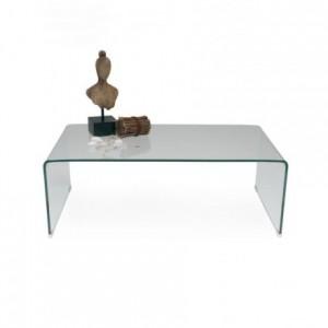 Mesa de centro 110x60 de cristal curvado y templado de una pieza MURANO