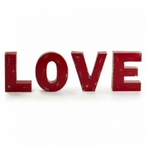 LOVE set de 4 letras decorativas