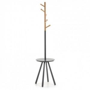 Perchero NERB madera acabado natural y lacado en gris diseño nórdico