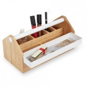 Caja organizadora multiusos de madera con cajón de metal-TOTO Storage Box
