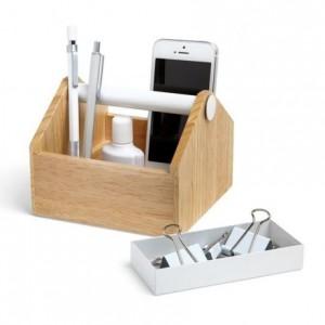 Cajita multiusos de madera con cajón de metal-TOTO Small Box
