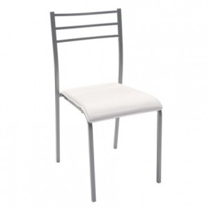 Silla de cocina PARIS asiento de pvc y estructura de metal