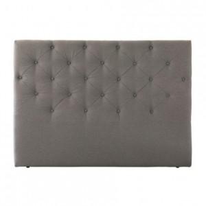 Cabecero SANTANDER tapizado tela capitoné color gris 150 cm