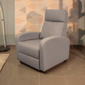 Sillón relax SHINE tapizado en tela con sistema de relax manual