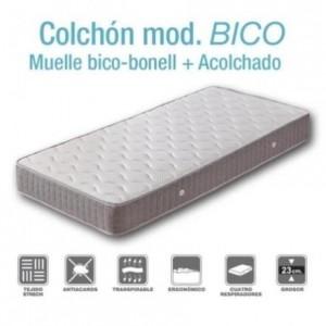 Colchón BICO de muelles Bico-bonell y acolchado continuo