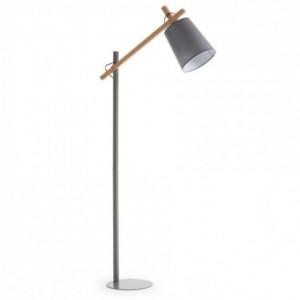 Lámpara de pie JOVIK diseño nórdico gris