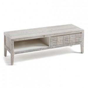Mueble de tv WOODY madera de pino reciclada 120x40 cm