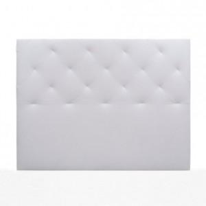 Cabecero TIMÓN tapizado en polipiel color blanco 150 cm