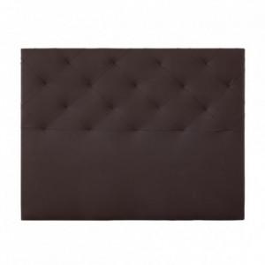 Cabecero TIMÓN tapizado en polipiel color choco 150 cm