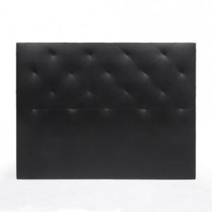 Cabecero TUCÁN tapizado en polipiel color negro 150 cm