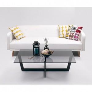 Sofá cama de 3 plazas ROGER color blanco puro de 210 cm