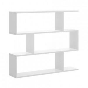 Estantería baja de diseño moderno LIS tablero de partículas melaminizado color blanco brillo o natural 110x25x96 cm