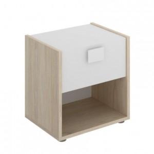 Mesilla de diseño moderno DINA tablero de partículas melaminizado color blanco natural 40x33x42 cm