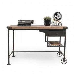 Mesa escritorio de estilo vintage SEATTLE con cajón 120x60 cm