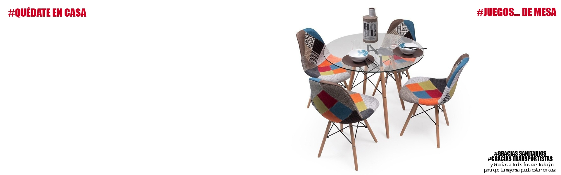 Conjunto de comedor TOWER Patchwork